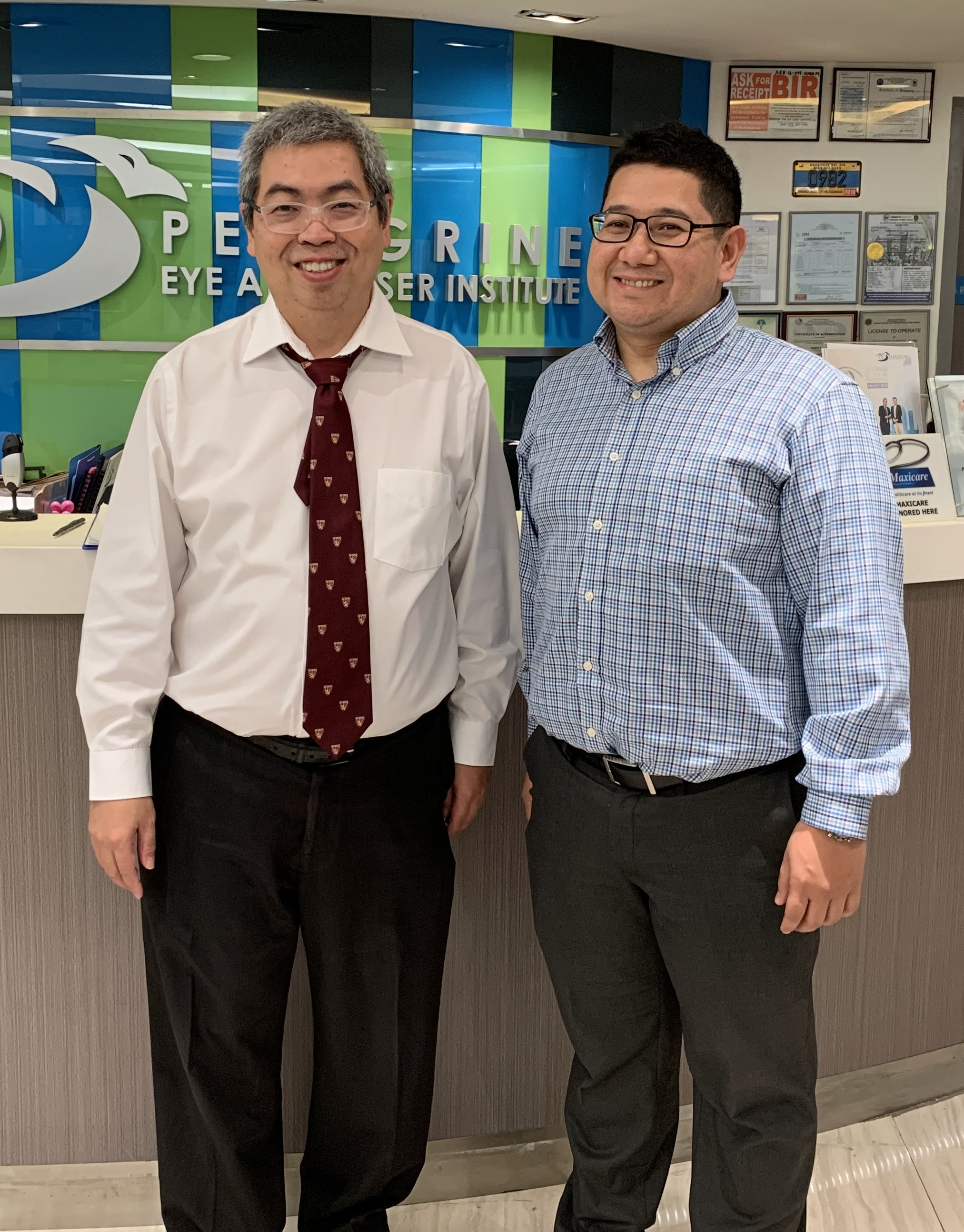 Dr. Nikko Ronquillo with Dr. Harvey Uy in the Philippines
