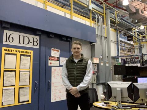 Marcus Parry at the Advanced Photon Source of Argonne National Lab